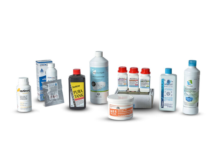 Reinigungsmittel für die Wasseranlage im Wohnmobil