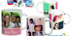 Керамична чаша със снимки и текст на клиента