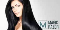 """Терапия за коса """"млечен шейк"""", премахване на нацъфтели краища с полировчик и изправяне със сешоар"""