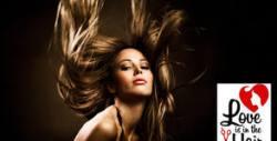 Полиране на коса с полировчик, плюс терапия по избор