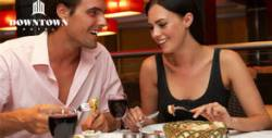 Празнично меню за 14 Февруари със салата, основно ястие, десерт и чаша вино