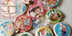 15 кръгли бисквити по домашна рецепта, с фотодекорация по избор