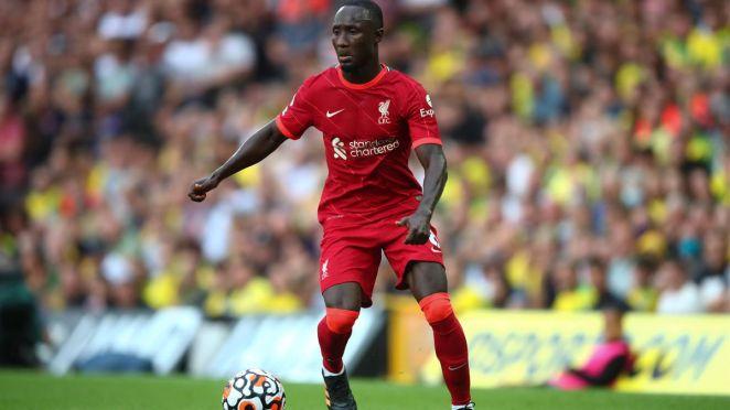 Naby Keita lors de Norwich-Liverpool en août 2021.