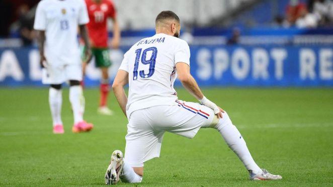 Karim Benzema (France), touché face à la Bulgarie