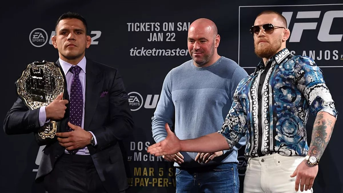 Rafael dos Anjos fired back after McGregor said to put him in the cage against him at UFC 264