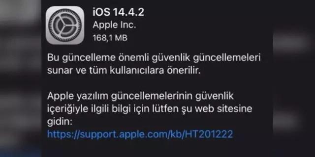 Apple'dan iOS 14.4.2 kararı