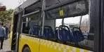 İETT otobüsüne hafriyat kamyonu çarptı