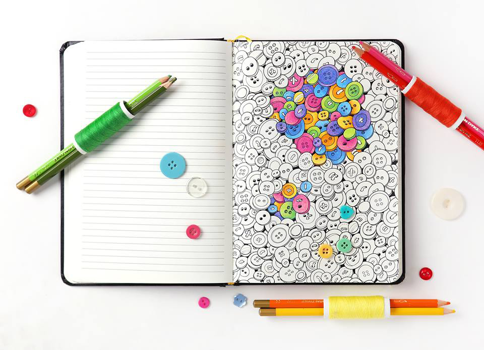 Coloring Notebook Combines The Joys Of Adult Coloring Books With The Convenience Of A Notebook 6sqft