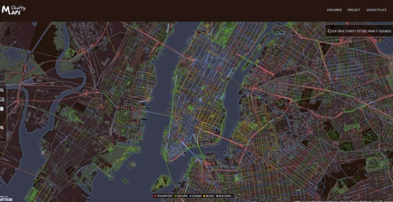 Chatty Maps Tell You What You ll Hear on Given Streets and How It ll     chatty map  maps  nyc sound map  nyc noise map  data visualization