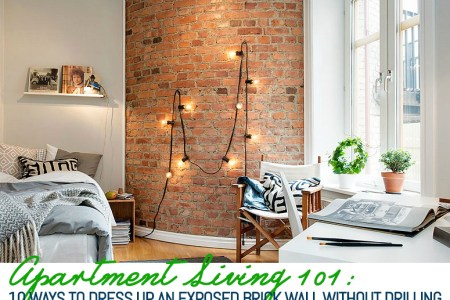 10 Ways to Decorate an Exposed Brick Wall Without Drilling   6sqft 10 Ways to Decorate an Exposed Brick Wall Without Drilling