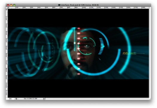 Iron Man View Interface Effect In Photoshop