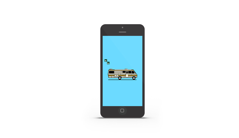 Abduzeedo's iPhone wallpaper of the week - Breaking Bad