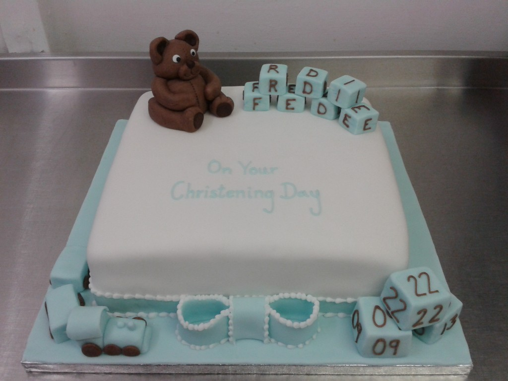 Images Of Baby Boy Christening Cakes
