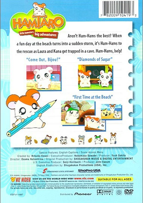 Hamtaro Volume 2 Ham Hams Head Seaward DVD 2000 DVD
