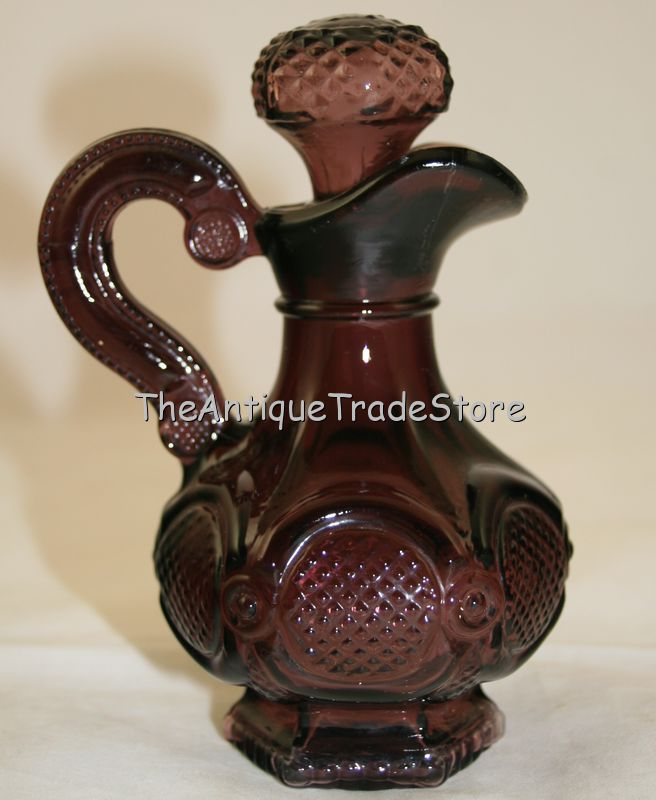 Vintage 1973 Avon Amethyst glass bottle jug