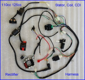 507090110CC125cc WIRE HARNESS WIRING CDI ASSEMBLY ATV