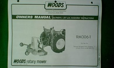 Woods Rm306 Belt Diagram | Wooden Thing