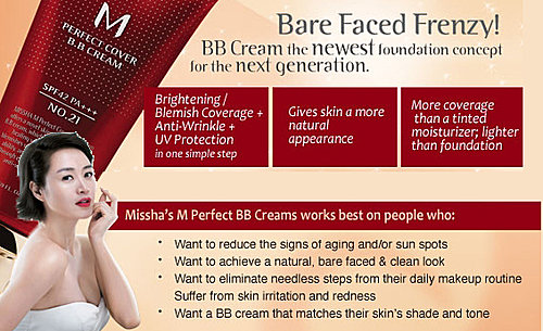 Jual Bb Cream Missha M Perfect Cover No  Foundation Makeup Light Beige Ml Blanja Com