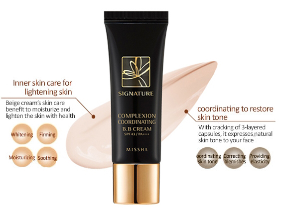 Missha Signature White Pure Complexion Coordinating Bb Cream Natural White Color That Adjusts To Skin Tone On Contact