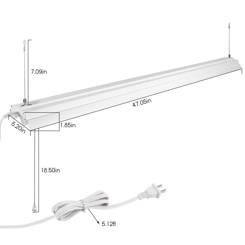 Leonlite 47 Inch Shop Light Utility Led 40w 120w K