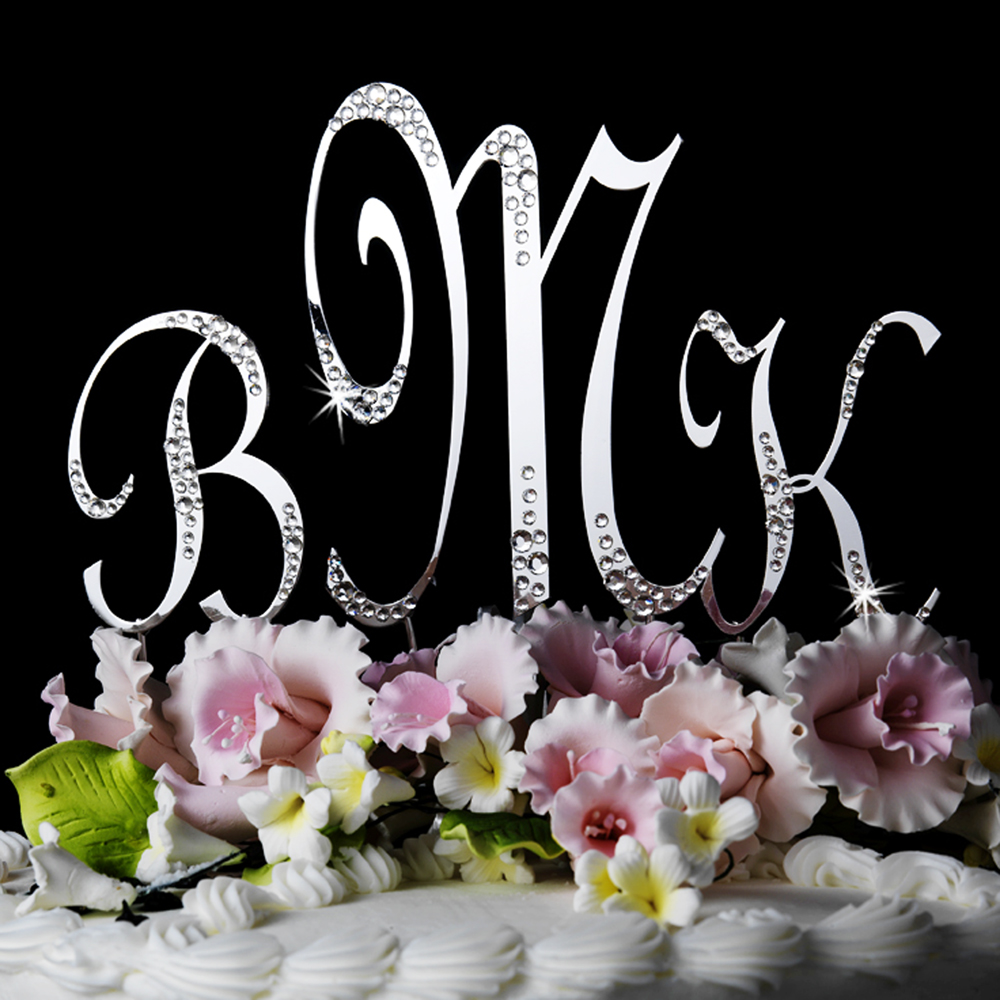 Monogram Wedding Cake Toppers