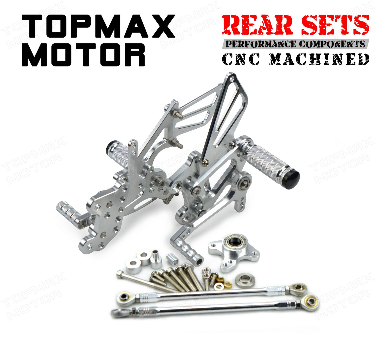 Silver Cnc Rearset Foot Control Rear Sets For