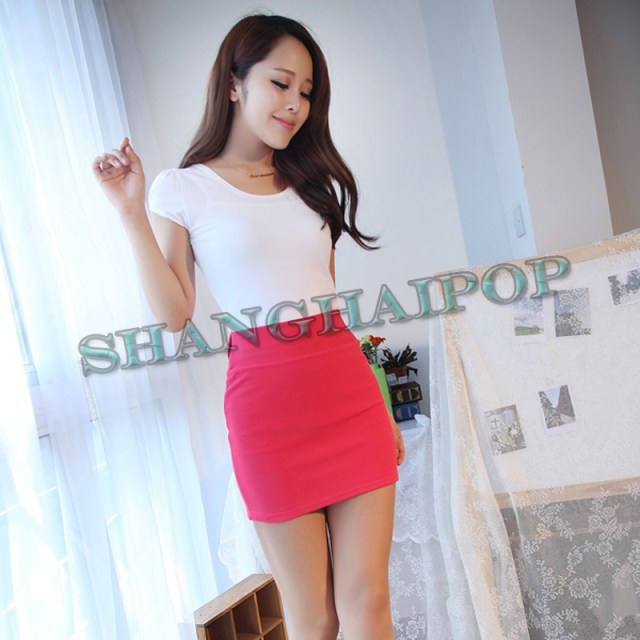 Image Is Loading Ladies Stretch Mini Skirt Tight Women Fitted Girls