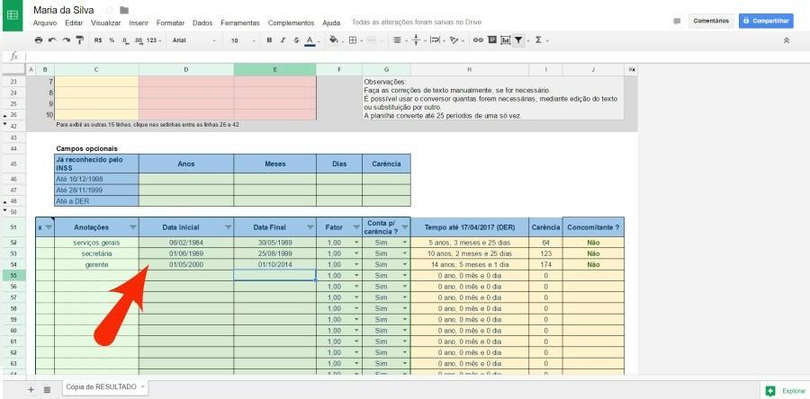 Como calcular tempo de contribuio planilha gratuita de simulao