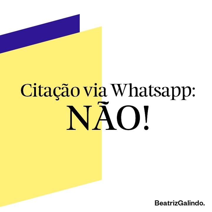 Citao via Whatsapp NO
