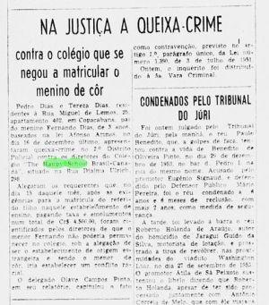 O negro que se tornou o primeiro caso na Justia de racismo no Brasil