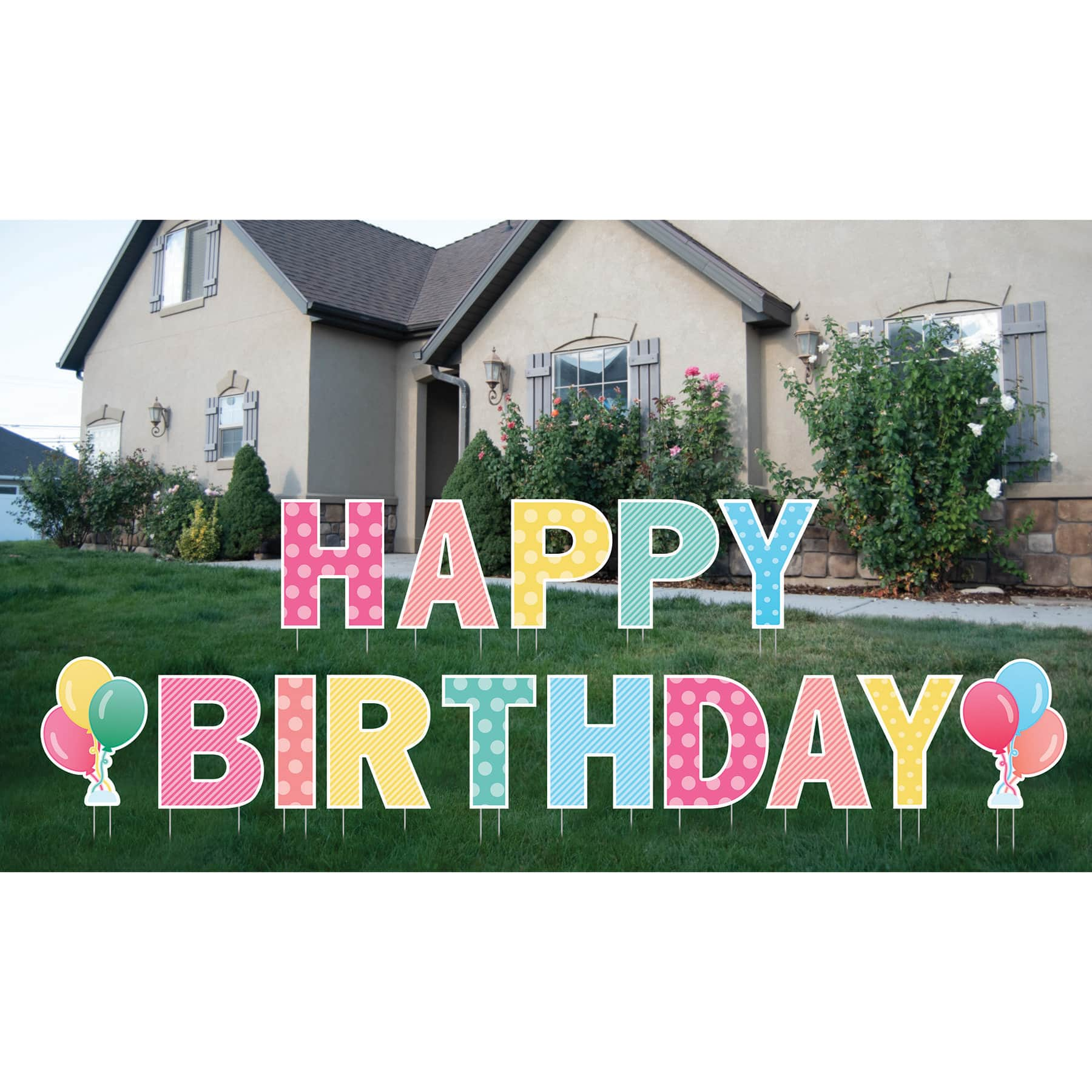 Happy Birthday Yard Sign By Celebrate It Michaels