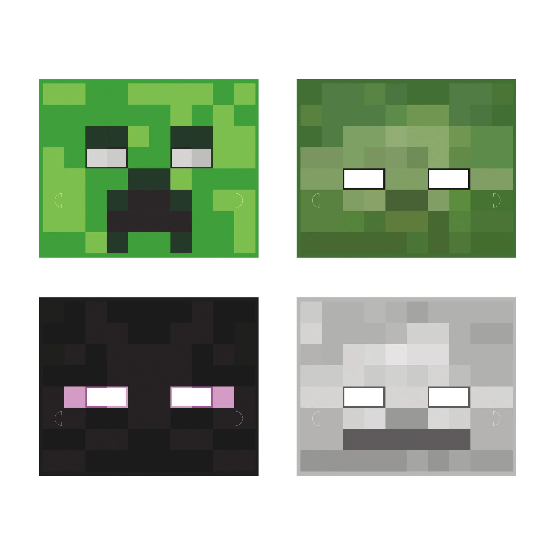 Minecraft Paper Masks Minecraft Party Supplies