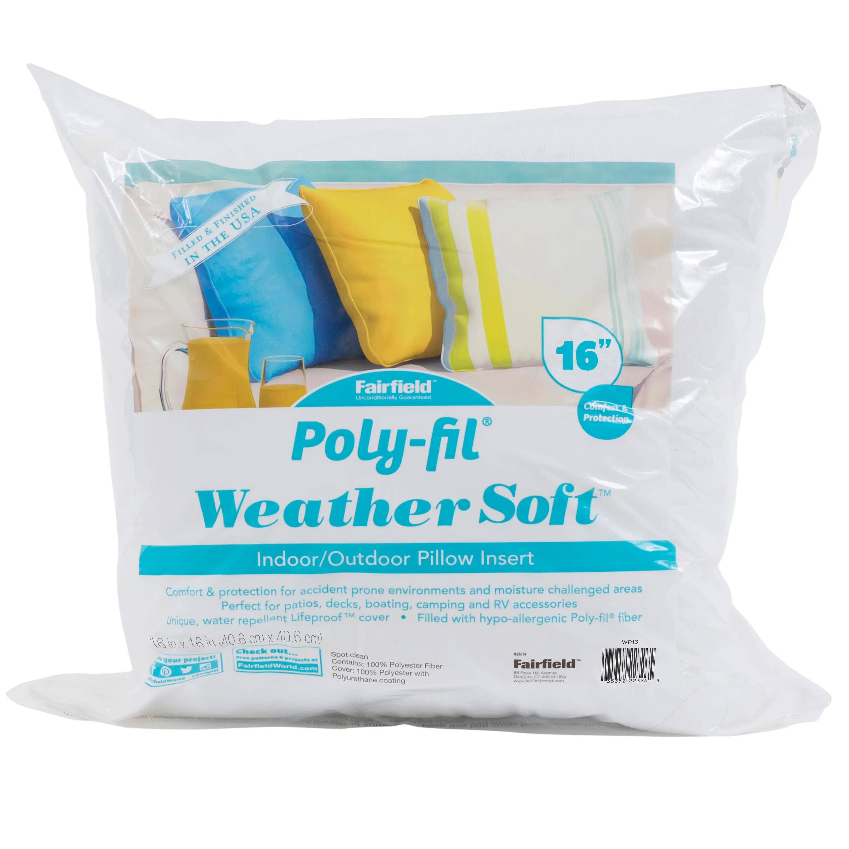weather soft indoor outdoor pillow insert 16 x 16