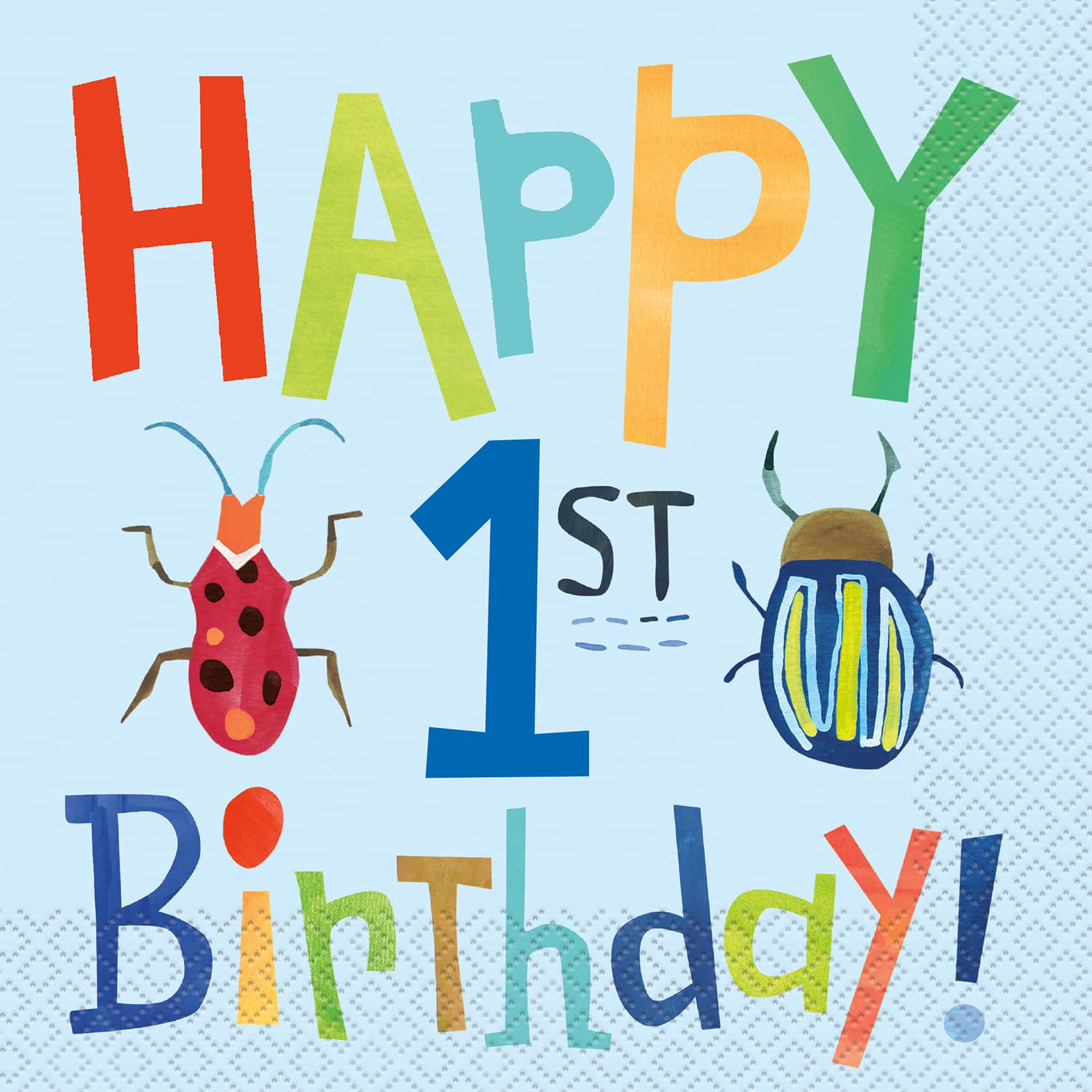 Bug Birthday Party Napkins Insect Bug 1st Birthday Party Supplies