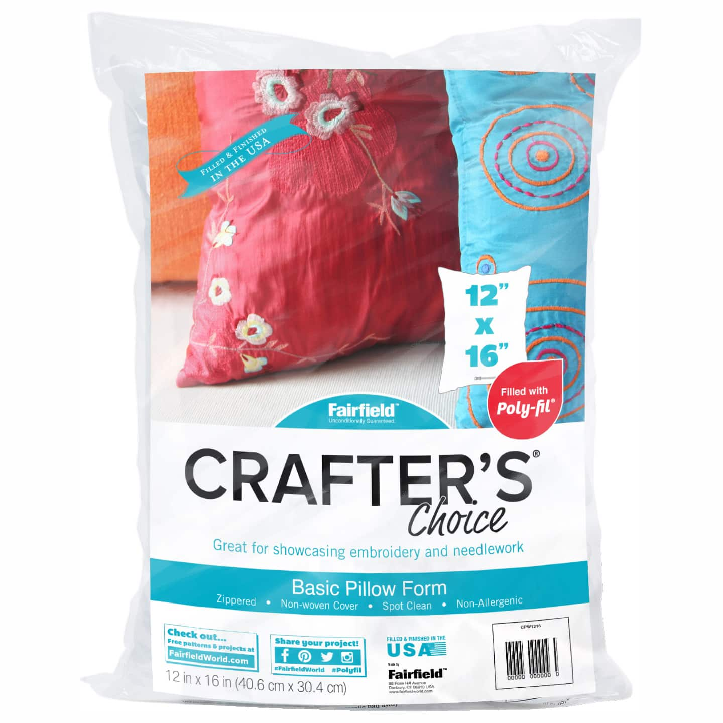 crafter s choice 4ct basic pillow form 12 x 16