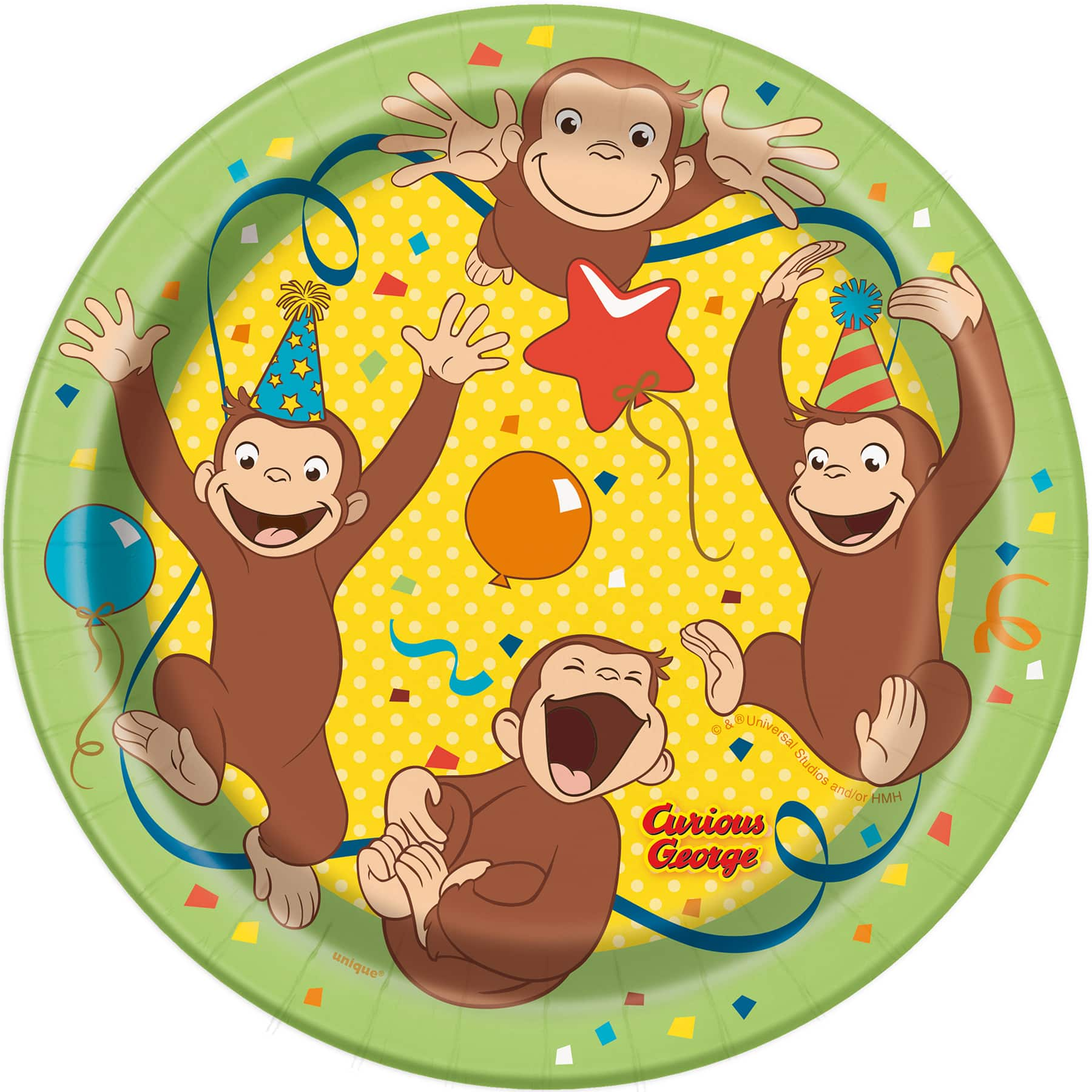 Curious George Cake Plates Curious George Party Supplies