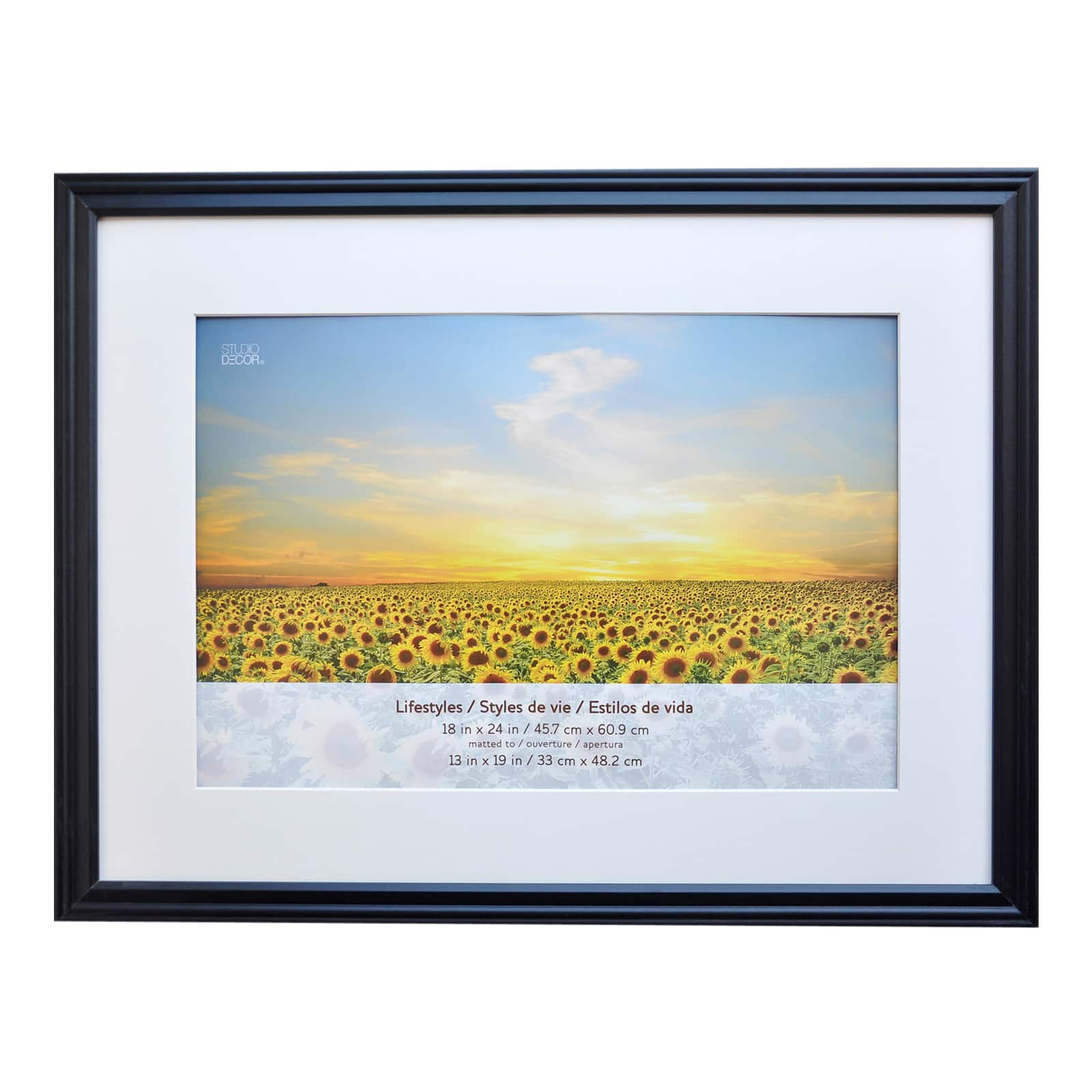 black large frame with mat lifestyles by studio decor