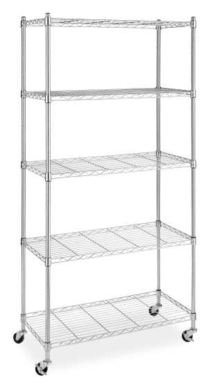 Whitmor Supreme 5-Tier Cart, Chrome | Michaels�