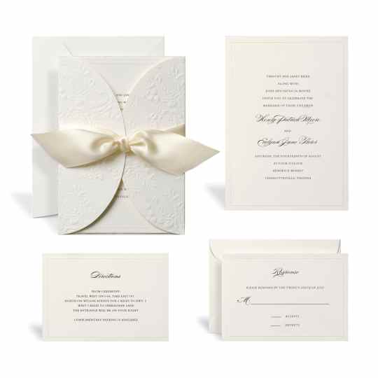 Embossed Ivory Wrap Wedding Invitation Kit By Celebrate It