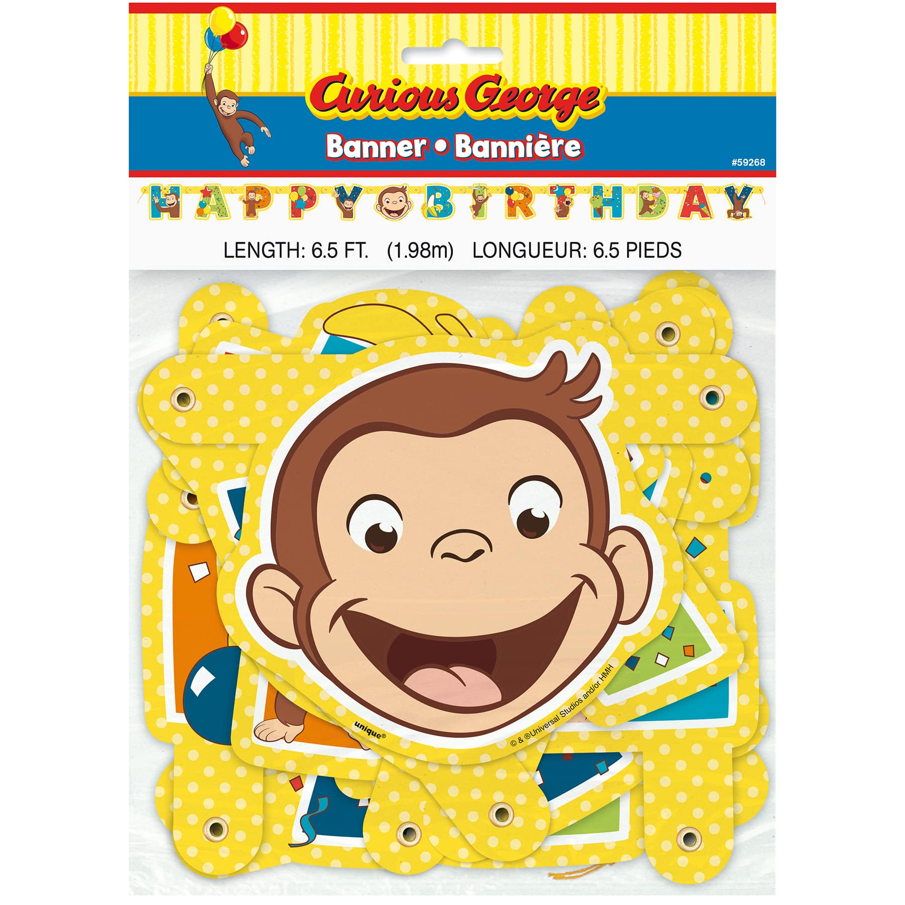 Curious George Party Banner Curious George Party Decorations