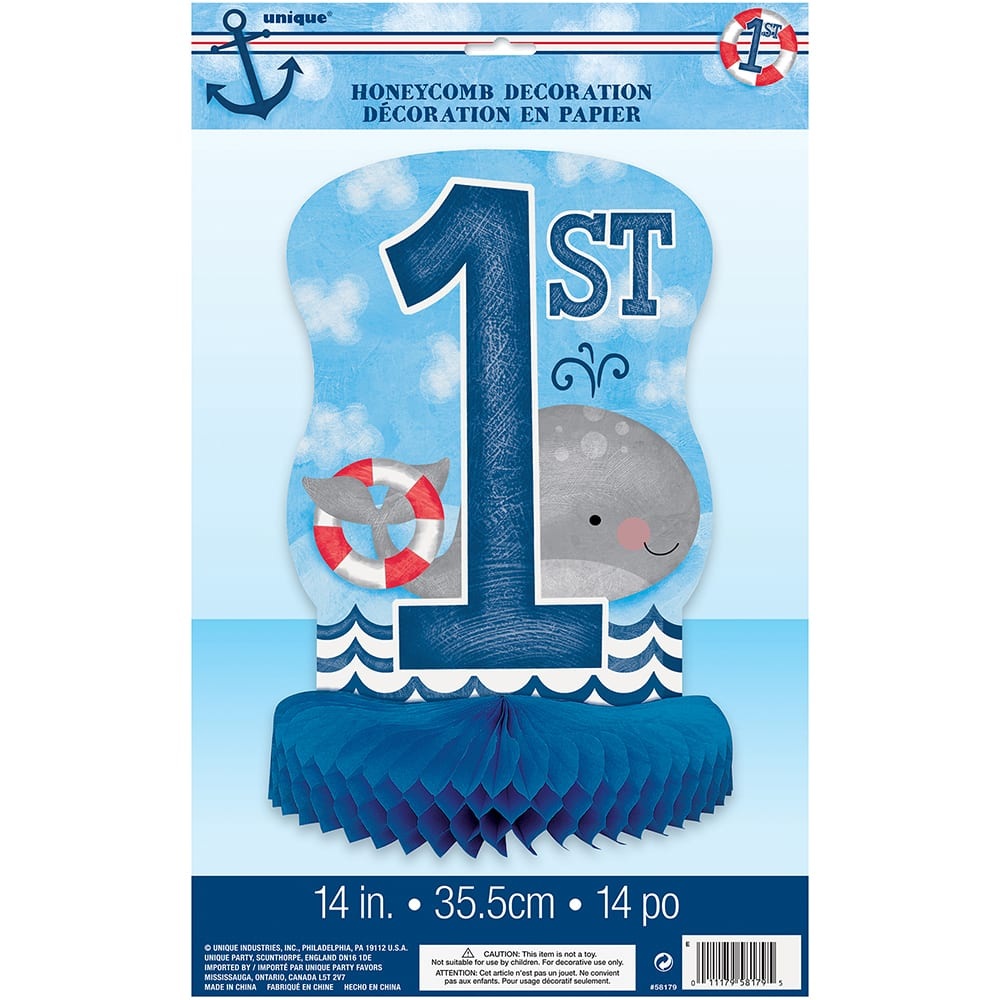 Nautical 1st Birthday Table Centerpiece 1st Birthday Party Decorations