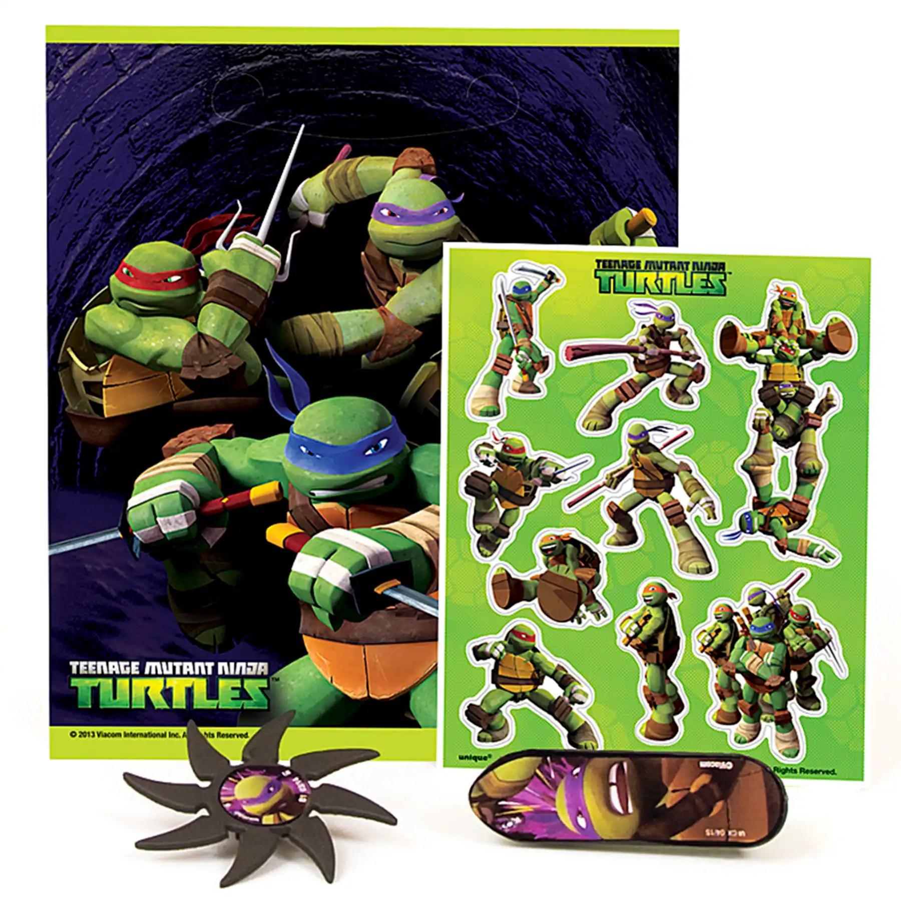 Teenage Mutant Ninja Turtles Birthday Party Favor Kit For 4 Tmnt Party Supplies