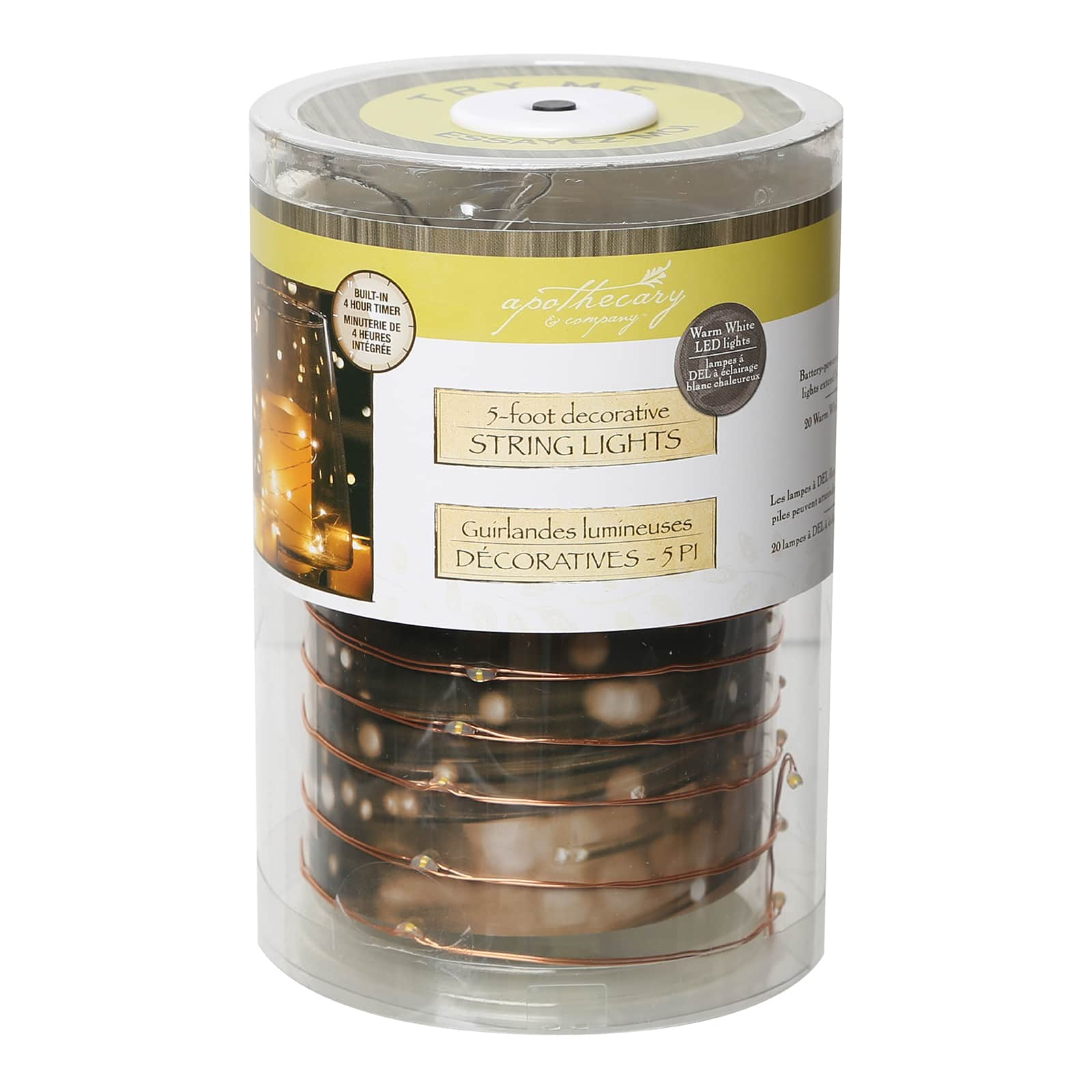 apothecary company copper decorative micro led string lights 5ft