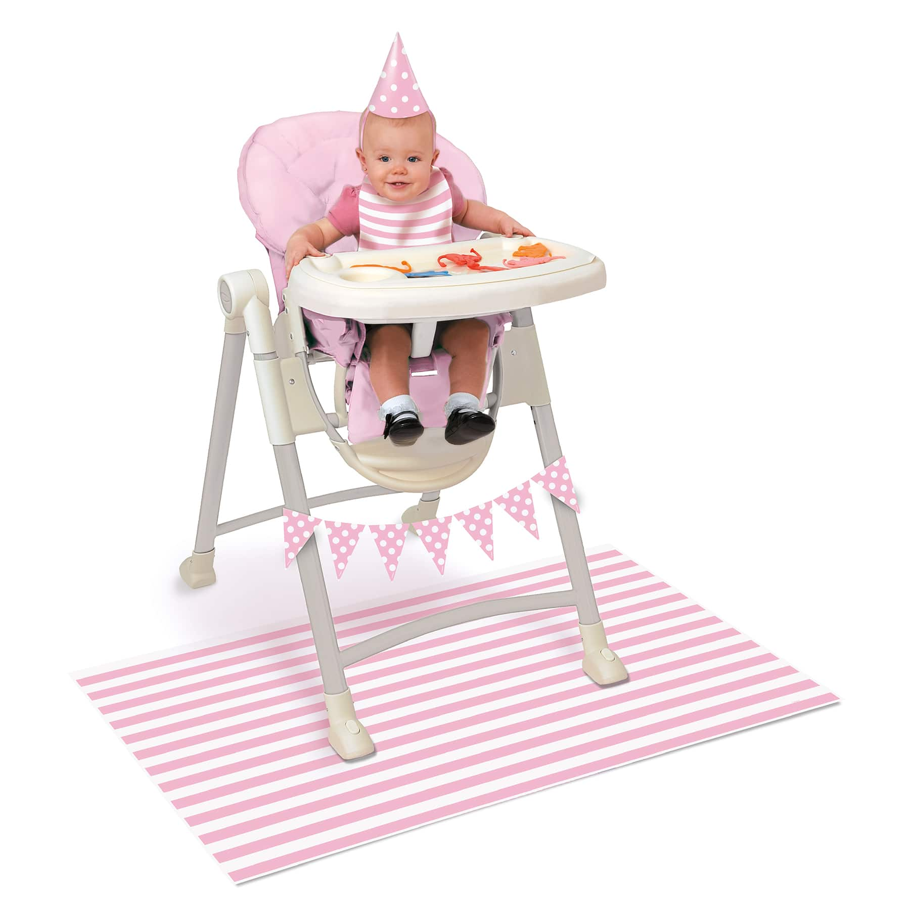 Pink First Birthday High Chair Kit 1st Birthday Party Decorations