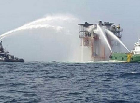 Incêndio em plataforma Petrolífera faz dois feridos graves