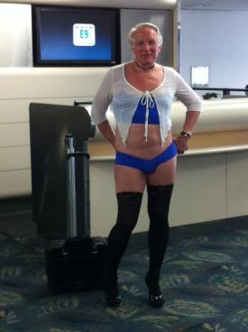 Acceptable airline attire.