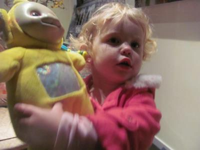 My daughter prefers her old teletubbie to new presents