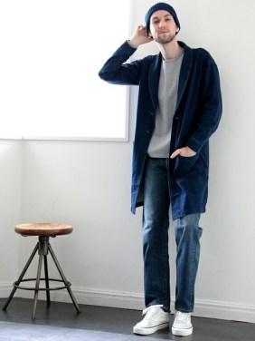 「ロングコート メンズ 着こなし 海外」の画像検索結果
