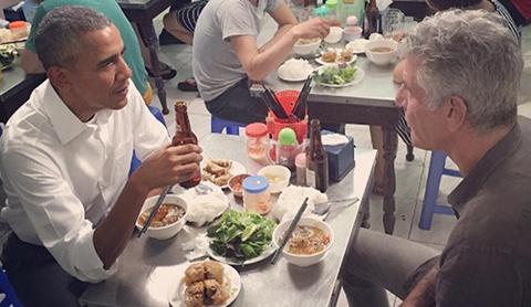 Miếng ăn, bún chửi, Hà Nội, kênh truyền hình CNN, Ngô Sĩ Liên, Anthony Bourdain, 'món ăn đặc sắc', bún chả, Obama