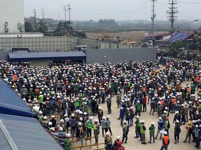 công nhân ẩu đả, nhà máy Sam Sung, Bắc Ninh
